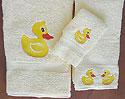 Embroidered Bath Towel Set
